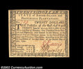 Colonial Notes:Rhode Island, Rhode Island July 2, 1780 $20 About New. Very well ...