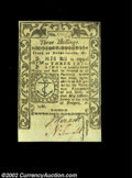 Colonial Notes:Rhode Island, Rhode Island May 1786 3s Choice New. A Gem but for its ...