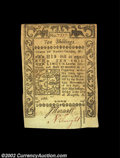 Colonial Notes:Rhode Island, Rhode Island May 1786 10s Choice New. Irregularly margined ...