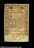Colonial Notes:Rhode Island, Rhode Island May 1786 20s Very Choice New. A near-Gem ...