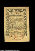 Colonial Notes:Rhode Island, Rhode Island May 1786 20s About New. A handsome, very well ...