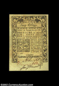 Colonial Notes:Rhode Island, Rhode Island May 1786 40s Choice New. A well-margined ...