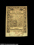 Colonial Notes:Rhode Island, Rhode Island May 1786 40s Choice New. Three strong ...