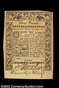 Colonial Notes:Rhode Island, Rhode Island May 1786 L3 Choice New. The note has three ...