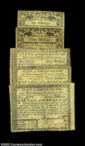 Colonial Notes:Rhode Island, Rhode Island Mixture. There are three notes from the ...