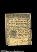 Colonial Notes:Vermont, Vermont February 1781 40s Choice Very Fine. This is by far ...