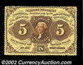 Fractional Currency:First Issue, Fr. 1229 5c First Issue Very Choice New. A fully ...