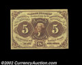 Fractional Currency:First Issue, Fr. 1231 5c First Issue Very Choice New. With a little ...