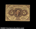 Three First Issue 5c Notes. Fr. 1228 New, Fr. 1230 Choice New and Fr. 1231 Very Fine