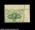 Fr. 1241 10c First Issue About New. This note from the Herget Collection is an extremely unusual piece as it has the ful...