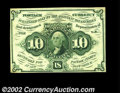 Fractional Currency:First Issue, Fr. 1242 10c First Issue Very Choice New. Lacking the ...