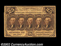 Fractional Currency:First Issue, Fr. 1281 25c First Issue Inverted Back Very Fine. About ...