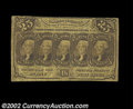 Fractional Currency:First Issue, Fr. 1281 25c First Issue Inverted Back Fine. Another nice ...
