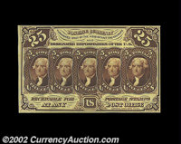 Fr. 1282 25c First Issue Very Choice New. A lovely note from the Herget Collection that comes quite close to the full Ge...