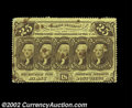 Fractional Currency:First Issue, Three 25c First Issue Notes. Fr. 1280 Extremely Fine ...