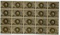 Fractional Currency:Second Issue, Fr. 1233 5c Second Issue Complete Sheet of 20 Very Fine. ...