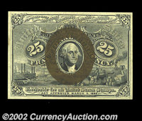 Fr. 1288 25c Second Issue Choice New. Purchased as a 1287 years ago by Walter Herget. We now know that Fr. 1287's were n...
