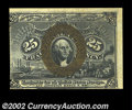 Fr. 1289 25c Second Issue Choice New. The face centering is off, with two huge margins and two that touch the design, bu...