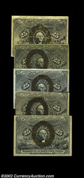 Fractional Currency:Second Issue, Five Different 25c Second Issue Notes. Fr. 1283 ...