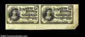 10c Fourth Issue Horizontal Essay Pair Milton 4E10F.2. This horizontal pair was cut from the only known sheet at the 198...