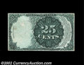 Fractional Currency:Fifth Issue, Fr. 1308 25c Fifth Issue Back Proof About New. Another ...