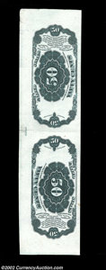 Fractional Currency:Fifth Issue, 50c Fifth Issue Tete-Beche Horizontal Back Pair. This 50c ...