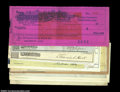 Miscellaneous:Checks, Miscellaneous Group of Nineteenth and Early Twentieth ...