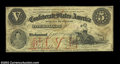 Confederate Notes:1861 Issues, T32 $5 1861. This attractive two-toned orange and black ...