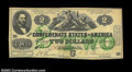 Confederate Notes:1862 Issues, T43 $2 1862. Although relatively common in lower grades, ...