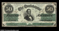 Confederate Notes:1862 Issues, T50 $50 1862. Well centered, broadly margined, and with ...