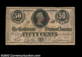 Confederate Notes:1863 Issues, T63 50¢ 1863 A very rare Confederate error note with the ...