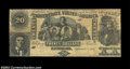 Confederate Notes:Group Lots, CT20 $20 1861. A nice counterfeit on interesting sandpaper-...