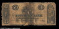 Obsoletes By State:Louisiana, New Orleans, LA- The Southern Bank $50 April 1, 1859 S5...