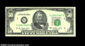 Error Notes:Blank Reverse (<100%), Fr. 2119-G $50 1977 Federal Reserve Note. Choice About ...