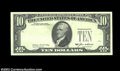 Error Notes:Missing Third Printing, Fr. 2027-??? $10 1985 Federal Reserve Note. Choice Crisp ...
