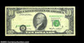 Error Notes:Shifted Third Printing, Fr. 2027-B $10 1985 Federal Reserve Note. Very Fine.
