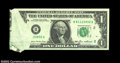 Error Notes:Foldovers, Fr. 1913-B $1 1985 Federal Reserve Note. Gem Crisp Uncirculat...