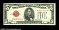 Small Size:Legal Tender Notes, Fr. 1530/Fr. 1531 $5 1928E/1928F Legal Tenders. Changeover ...