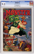 Golden Age (1938-1955):Horror, Monster #1 River City pedigree (Fiction House, 1953) CGC NM- 9.2Cream to off-white pages....