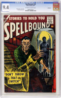 Golden Age (1938-1955):Horror, Spellbound #33 Bethlehem pedigree (Atlas, 1957) CGC NM 9.4Off-white to white pages....