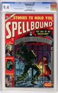 Golden Age (1938-1955):Horror, Spellbound #15 Bethlehem pedigree (Atlas, 1953) CGC NM 9.4Off-white pages....