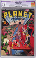 Golden Age (1938-1955):Science Fiction, Planet Comics #1 (Fiction House, 1940) CGC Apparent VF- 7.5 Slight(A) Cream to off-white pages....