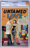 "Golden Age (1938-1955):Romance, Untamed Love #1 Davis Crippen (""D"" Copy) pedigree (Quality, 1950)CGC NM 9.4 Off-white pages...."