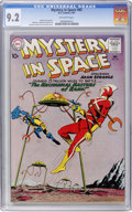 Silver Age (1956-1969):Science Fiction, Mystery in Space #65 (DC, 1961) CGC NM- 9.2 Off-white pages....