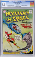 Silver Age (1956-1969):Science Fiction, Mystery in Space #61 (DC, 1960) CGC NM- 9.2 Off-white pages....