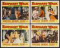 "Movie Posters:Adventure, Elephant Walk (Paramount, 1954). Lobby Cards (4) (11"" X 14"").Adventure. Starring Elizabeth Taylor, Dana Andrews, Peter Finc...(Total: 4 Items)"