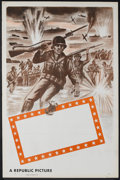 """Movie Posters:War, Republic Studios WWII Stock Poster (Republic, 1948). One Sheet (27""""X 41""""). War. This stock one sheet was used for the many ..."""