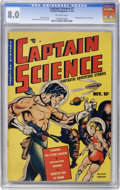 Golden Age (1938-1955):Superhero, Captain Science #1 (Youthful Magazines, 1950) CGC VF 8.0 Off-white pages....