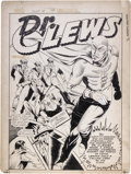 Original Comic Art:Splash Pages, Charles Sultan (attributed) - Unpublished Dr. Clewes Splash PageOriginal Art (circa 1942)....