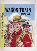 Original Comic Art:Covers, Walter Howarth - Wagon Train Annual Comic Album Cover Original Art(WDL, circa late 1950s)....